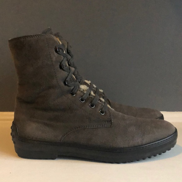 """Tod's Women's """"Winter Gommini"""" Boots with Shearing"""